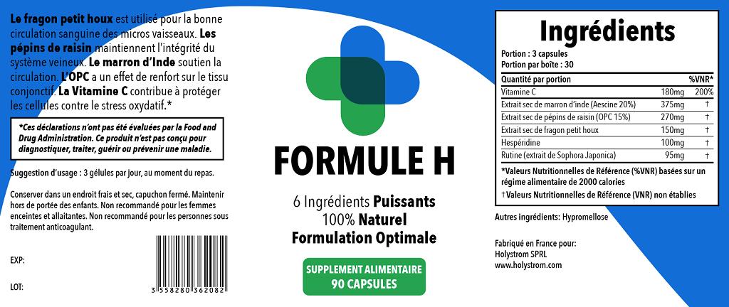 hémorroïdes Formule H remède naturel